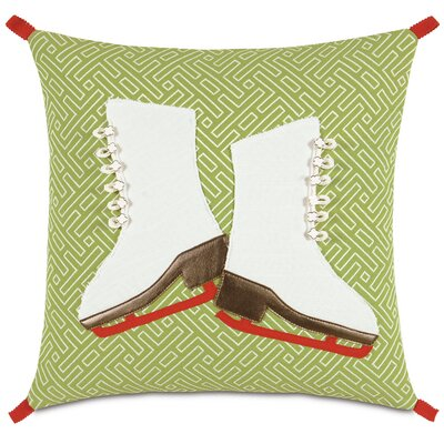 Seasonally Chic Skate Spade Throw Pillow