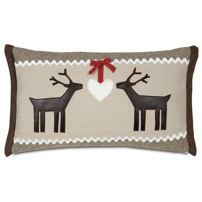 Nordic Holiday Folk Love Lumbar Pillow