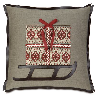 Nordic Holiday Santas Sleigh Throw Pillow