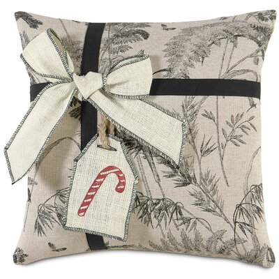 Fa La La Peppermint Present Throw Pillow