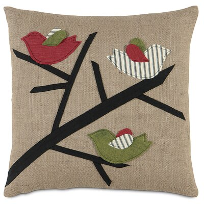 Fa La La 3 Calling Birds Throw Pillow