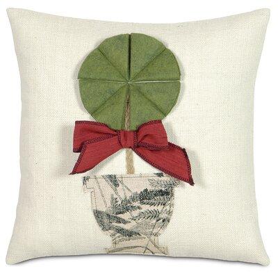 Fa La La Holiday Topiary Throw Pillow