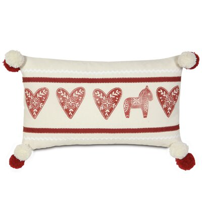 Nordic Holiday Lucys Hearts Lumbar Pillow