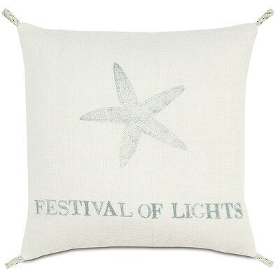 Coastal Tidings Festival of Lights Throw Pillow