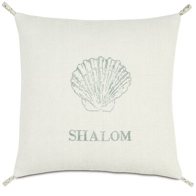 Coastal Tidings Shalom Shell Throw Pillow