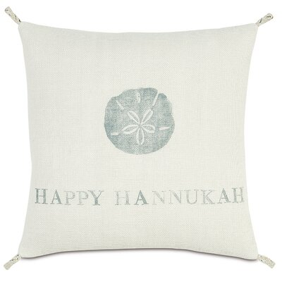 Coastal Tidings Happy Hannukah Outdoor Throw Pillow