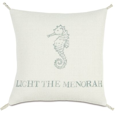 Coastal Tidings Light The Menorah Outdoor Throw Pillow