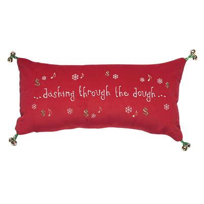 Phrase Dashing Through The Dough Lumbar Pillow