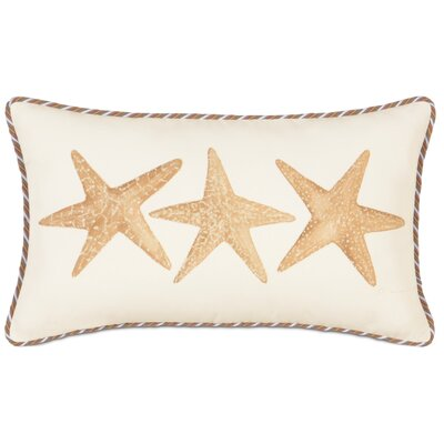 Caicos Hand-Painted Starfish Lumbar Pillow