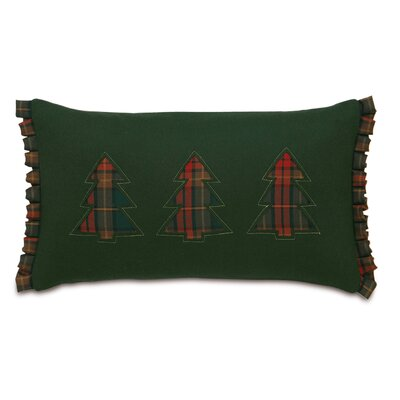 Home for The Holidays Three Plaid Trees Lumbar Pillow