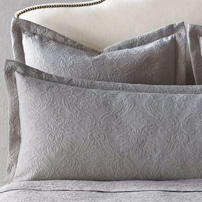 Sandrine Matelasse Cotton Lumbar Pillow Color: Dove, Size: King