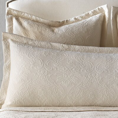 Sandrine Matelasse Cotton Lumbar Pillow Size: King, Color: Ecru