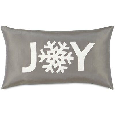 Dreaming of a White Christmas Snowflake Joy Lumbar Pillow