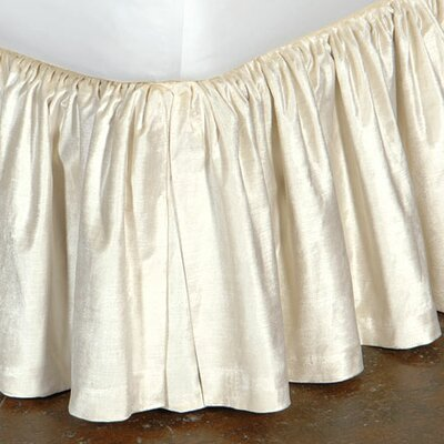 Lucerne Ruffled Bed Skirt Color: Ivory, Size: King