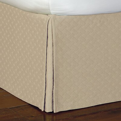 Briseyda Matelasse Bed Skirt Size: Full, Color: Sand