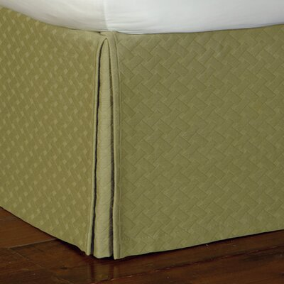 Briseyda Matelasse Bed Skirt Size: Full, Color: Palm