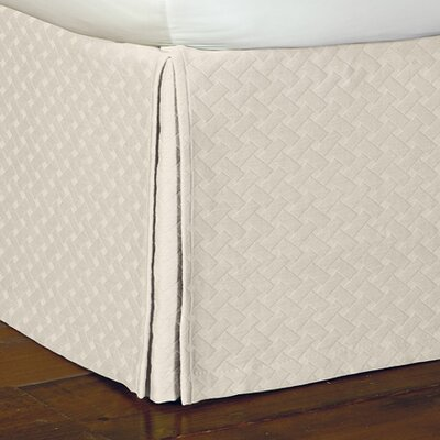 Briseyda Matelasse Bed Skirt Size: King, Color: Shell