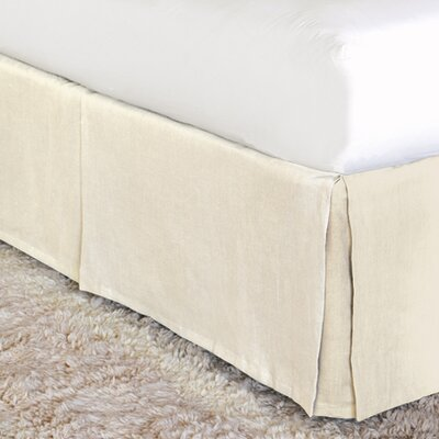 Breeze Bed Skirt Color: Pearl, Size: Full