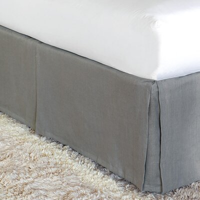 Breeze Bed Skirt Size: Twin, Color: Slate