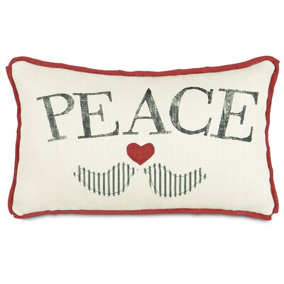 Fa La La Peace Doves Lumbar Pillow