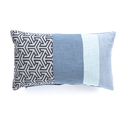 Mondrian Throw Pillow Color: Blue Water
