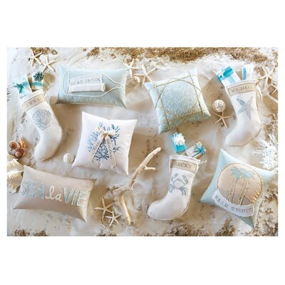 Coastal Tidings Wish List in a Bottle Lumbar Pillow