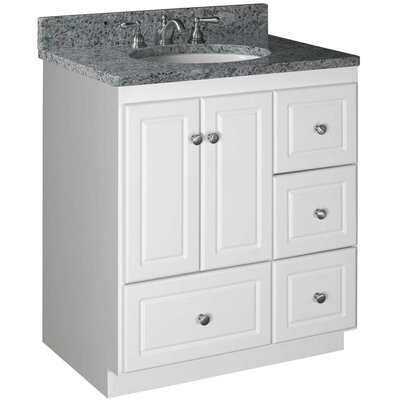 Simplicity 30 Bathroom Vanity Base Base Finish: Satin White