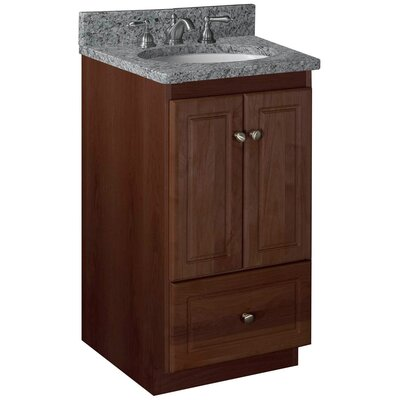 Simplicity 18 Bathroom Vanity Base Base Finish: Dark Alder, Depth: 21