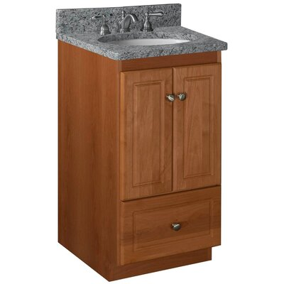 Simplicity 18 Bathroom Vanity Base Base Finish: Medium Alder, Depth: 21