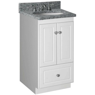 Simplicity 18 Bathroom Vanity Base Base Finish: Satin White, Depth: 18