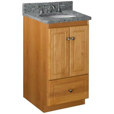 Simplicity 18 Bathroom Vanity Base Base Finish: Natural Alder, Depth: 21