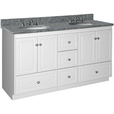 Simplicity 60 Double Bowl Bathroom Vanity Base Base Finish: Satin White