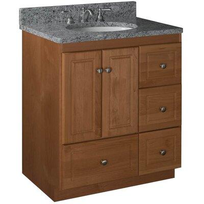 Simplicity 30 Bathroom Vanity Base Base Finish: Medium Alder