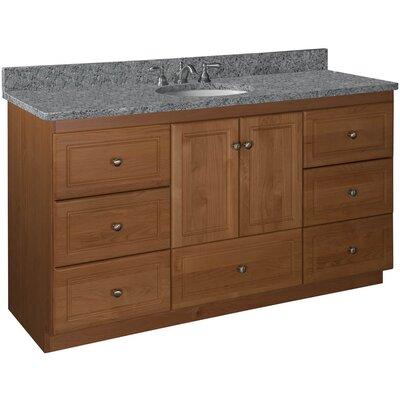 Simplicity 60 Double Bowl Bathroom Vanity Base Base Finish: Medium Alder