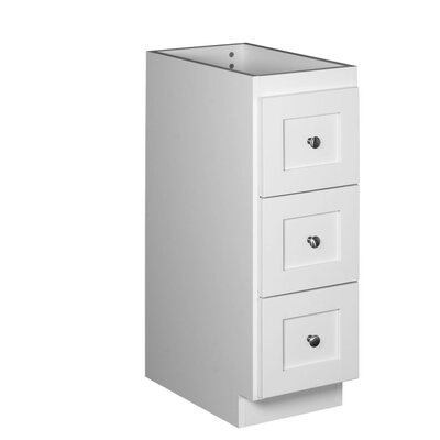 Simplicity 12 W x 34.5 H Cabinet Finish: Satin white