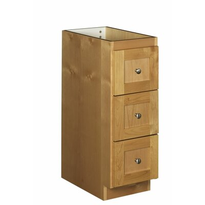 Simplicity 12 W x 34.5 H Cabinet Finish: Natural alder