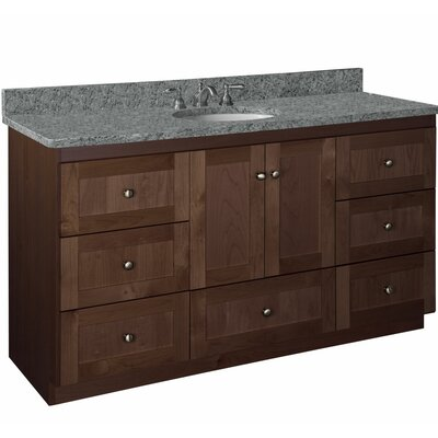 "Simplicity 60"" Vanity Base Base Finish: Dark alder"