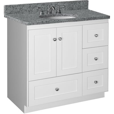 "Simplicity 36"" Vanity Base Base Finish: Satin white"