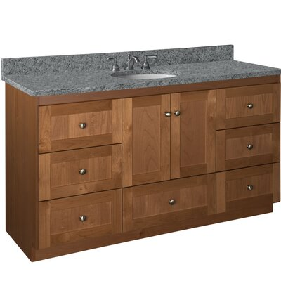 Simplicity 60 Single Vanity Base Base Finish: Medium Alder