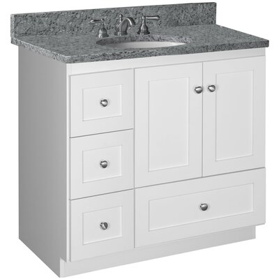 Simplicity 36 Vanity Base Base Finish: Satin white