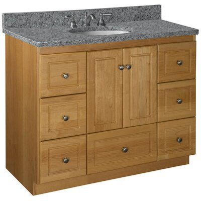 Simplicity 43 Single Cabinet Bathroom Vanity Base Base Finish: Natural Alder, Depth: 21