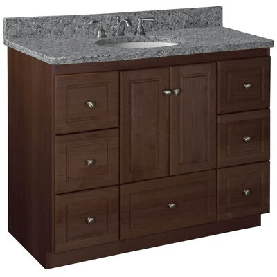 Simplicity 43 Single Cabinet Bathroom Vanity Base Base Finish: Dark Alder, Depth: 18
