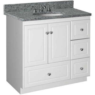 Simplicity 36 Bathroom Vanity Base Base Finish: Satin White, Depth: 21, Door: Ultraline