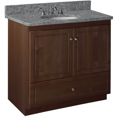 Simplicity 36 Bathroom Vanity Base Base Finish: Dark Alder, Depth: 21
