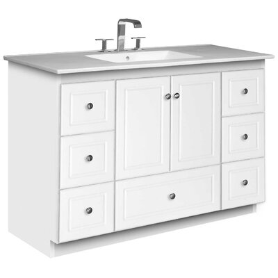 Simplicity 49 Single Bathroom Vanity Set Base Finish: Satin White
