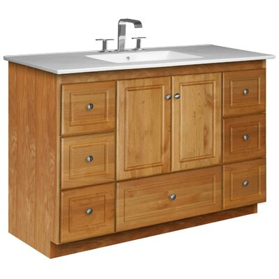 Simplicity 49 Single Bathroom Vanity Set Base Finish: Natural Alder