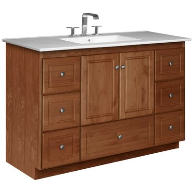 Simplicity 49 Single Bathroom Vanity Set Base Finish: Medium Alder