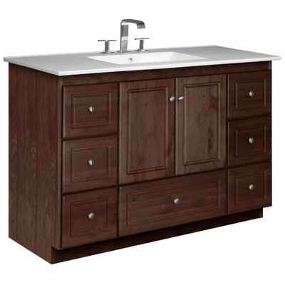 Simplicity 49 Single Bathroom Vanity Set Base Finish: Dark Alder