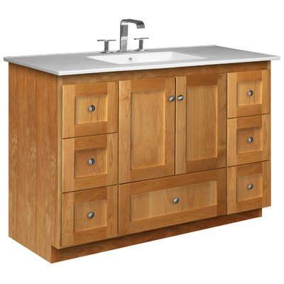 Simplicity 49 Single Bathroom Vanity Set Base Finish: Natural Alder