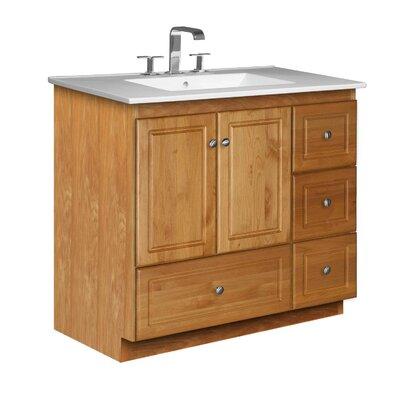 Simplicity 37 Single Bathroom Vanity Set Base Finish: Natural Alder